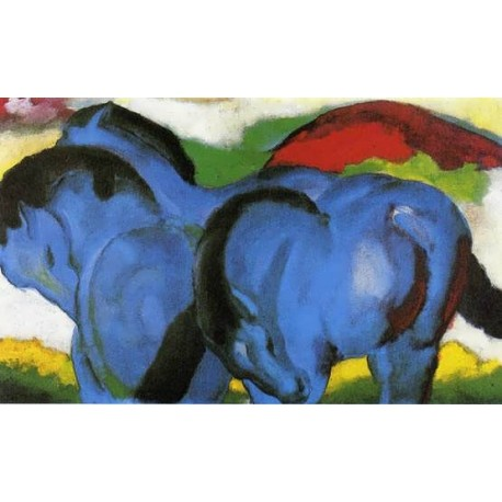The Little Blue Horses by Franz Marc oil painting art gallery