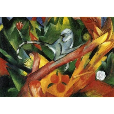 The Monkey by Franz Marc oil painting art gallery