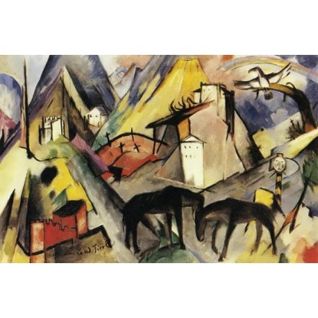 The Unfortunte Land Of Tyrol by Franz Marc oil painting art gallery