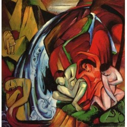 The Waterfall by Franz Marc oil painting art gallery