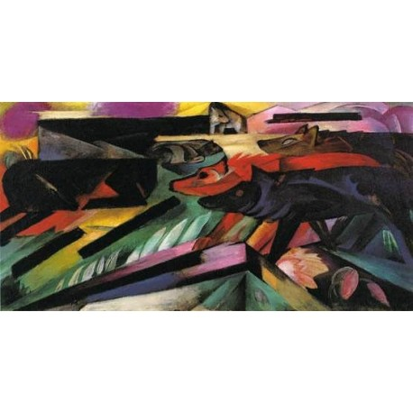 The Wolves by Franz Marc oil painting art gallery