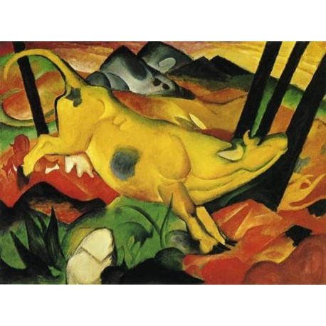The Yellow Cow by Franz Marc oil painting art gallery