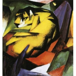 Tiger by Franz Marc oil painting art gallery