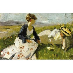 Two Women On The Hillside, Sketch by Franz Marc oil painting art gallery
