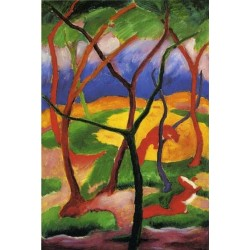 Weasels At Play by Franz Marc oil painting art gallery