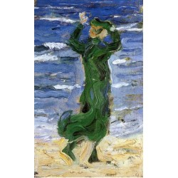 Woman In The Wind By The Sea by Franz Marc oil painting art gallery