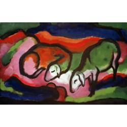 Zwei Schafe by Franz Marc oil painting art gallery