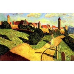An Old Town 1902 by Wassily Kandinsky oil painting art gallery