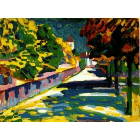 Autumn in Bavaria 1908 by Wassily Kandinsky oil painting art gallery
