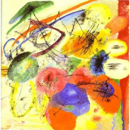 Black Strokes by Wassily Kandinsky oil painting art gallery