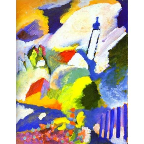 Church in Murnau 1910 by Wassily Kandinsky oil painting art gallery