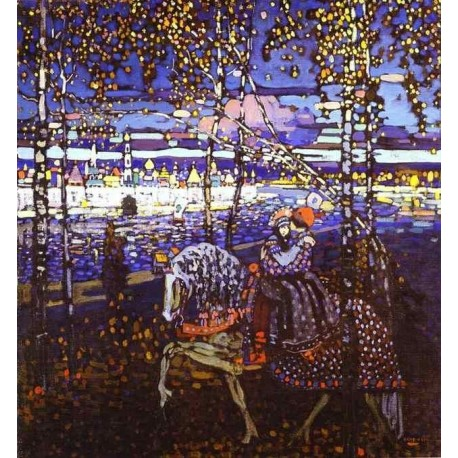 Couple Riding by Wassily Kandinsky oil painting art gallery