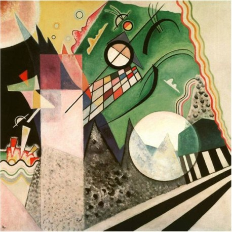 Green Composition 1923 by Wassily Kandinsky oil painting art gallery