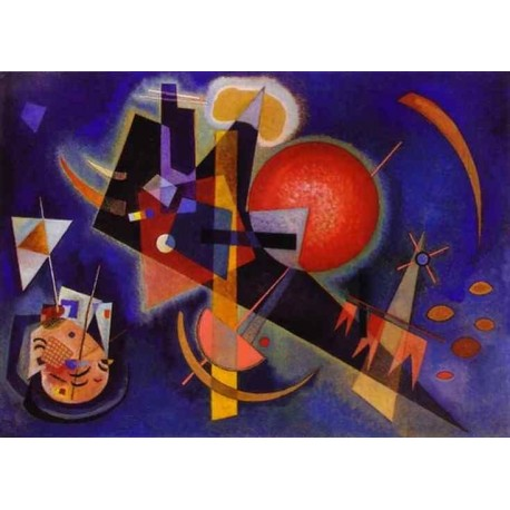 In Blue by Wassily Kandinsky oil painting art gallery