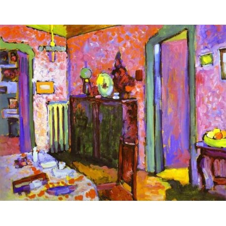 Interior My Dining Room By Wily Kandinsky Oil Painting Art Gallery Jpg