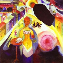 Lady in Moscow 1912 by Wassily Kandinsky oil painting art gallery