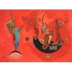 Mit und Gegen 1929 by Wassily Kandinsky oil painting art gallery