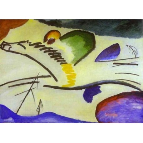 lyrical 1911 by Wassily Kandinsky oil painting art gallery