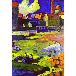 Munich Schwabing With The Church Of St Ursula by Wassily Kandinsky oil painting art gallery
