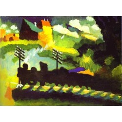 Murnau-View with Railroad and Castle by Wassily Kandinsky oil painting art gallery