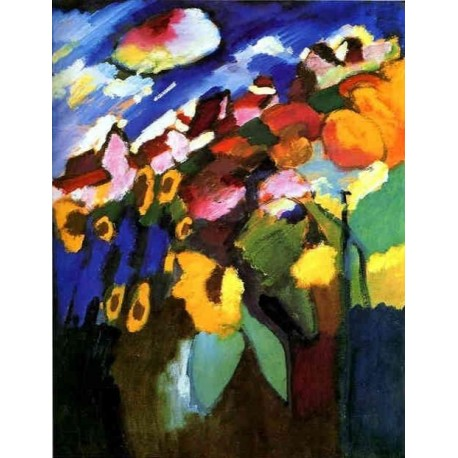 Murnau, Garden II 1910 by Wassily Kandinsky oil painting art gallery
