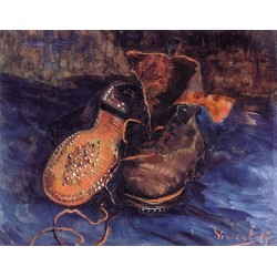 A Pair of Boots-border by Vincent Van Gogh - Art gallery oil painting reproductions