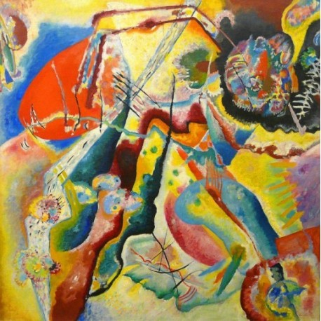 Painting with Red Spot 1914 by Wassily Kandinsky - oil painting art gallery