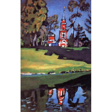 Red Church by Wassily Kandinsky oil painting art gallery