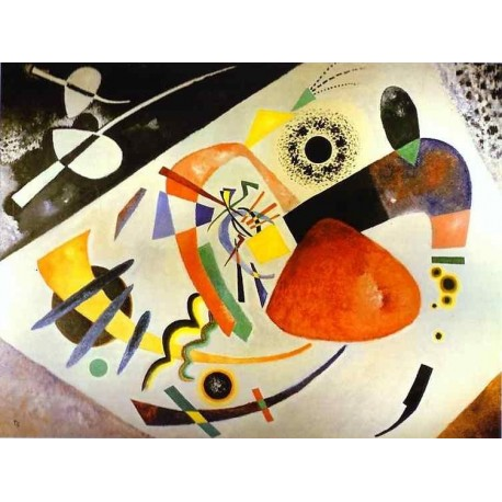 Red Spot II by Wassily Kandinsky oil painting art gallery