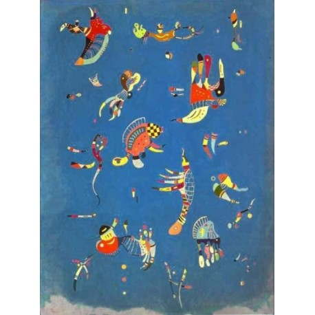 Skyblue 1940 by Wassily Kandinsky oil painting art gallery