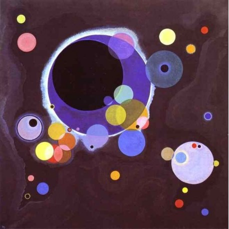 Several Circles by Wassily Kandinsky oil painting art gallery