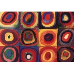 Squares with Concentric Rings 1913 by Wassily Kandinsky oil painting art gallery