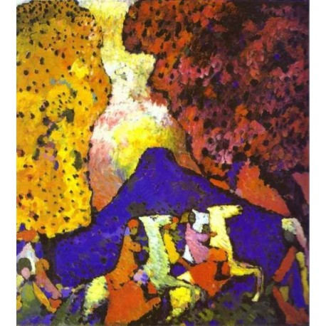 The Blue Mountain 1908 by Wassily Kandinsky oil painting art gallery