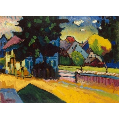 View of Murnau 1908 by Wassily Kandinsky oil painting art gallery