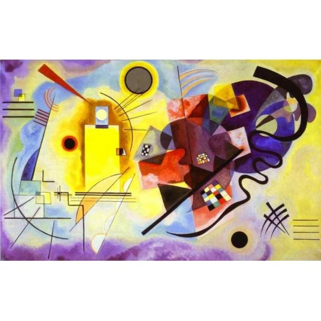 Yellow Red Blue by Wassily Kandinsky oil painting art gallery