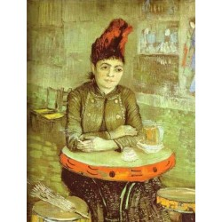Agostina Segatori in the Cafe de Tambourin-border by Vincent Van Gogh - Art gallery oil painting reproductions