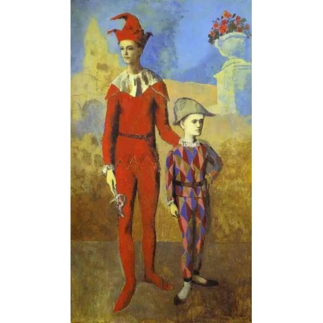 Acrobat and Young Harlequin by Pablo Picasso oil painting art gallery