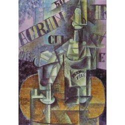 Bottle of Pernod by Pablo Picasso oil painting art gallery