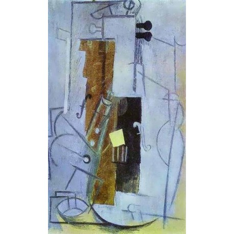 Clarinet and Violin by Pablo Picasso oil painting art gallery