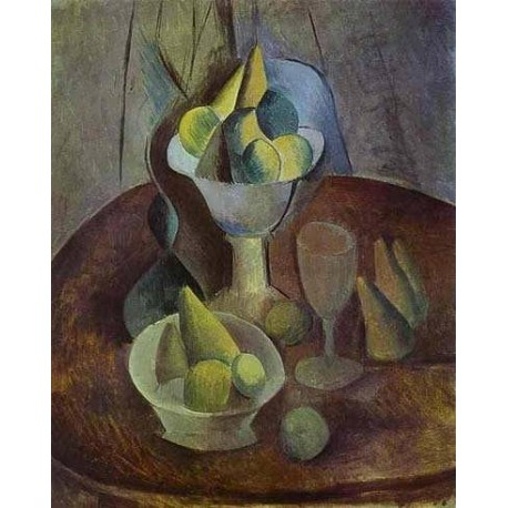 Compotier Fruit and Glass by Pablo Picasso oil painting art gallery