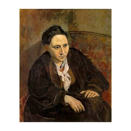Gertrude Stein by Pablo Picasso oil painting art gallery