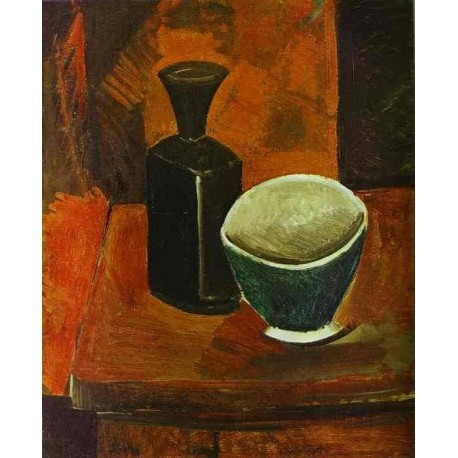 Green Bowland Black Bottle by Pablo Picasso oil painting art gallery
