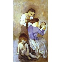 Hair dressing by Pablo Picasso oil painting art gallery