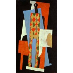 Harlequin by Pablo Picasso oil painting art gallery