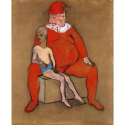 Clown and Young Acrobat by Pablo Picasso oil painting art gallery