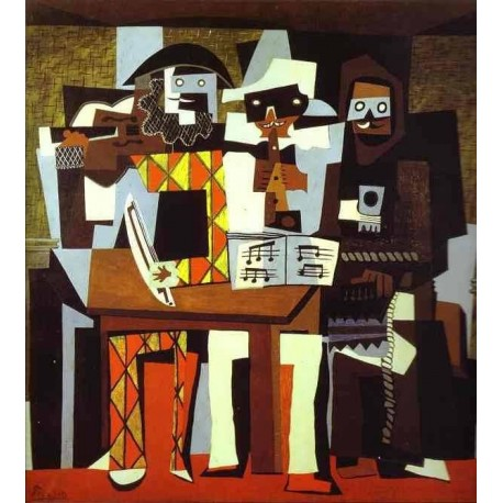 Musicians In Masks by Pablo Picasso oil painting art gallery