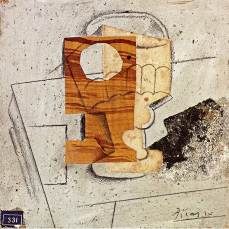 Glass on a Table by Pablo Picasso oil painting art gallery