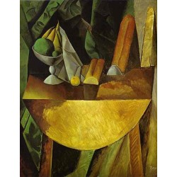 Bread and Fruit Dish on a Table by Pablo Picasso oil painting art gallery
