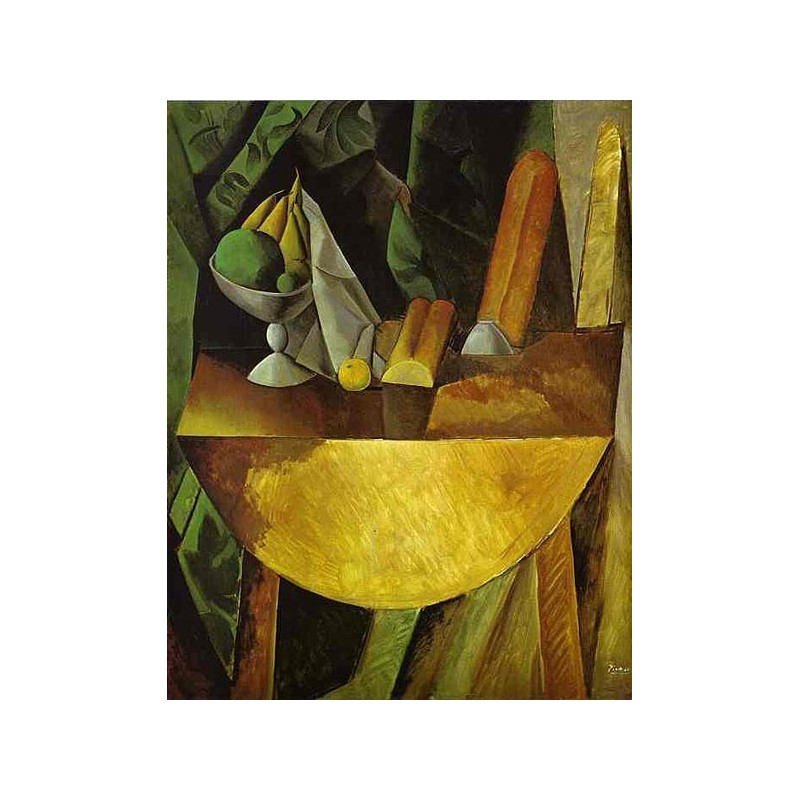 Quot Bread And Fruit Dish On A Table Quot By Pablo Picasso Oil