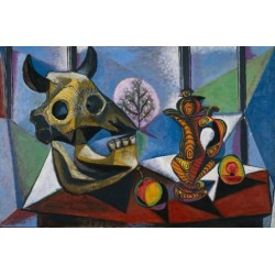 Bulls Skull -Fruit and Pitcher 1939 by Pablo Picasso oil painting art gallery